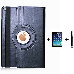 PU nahka flip älykäs seistä 360 pyörivä kotelo iPad 4/3/2 + näyttö suojelija elokuva kynällä (eri värejä)