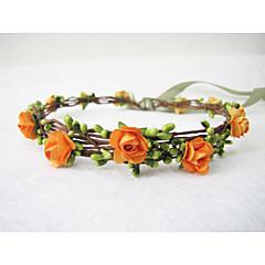 billige Hår Smykker-Dame Pige Blomster Vintage Brude Bryllup Hårbånd Krans Krone - Papir Blomst
