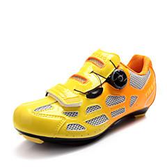 お買い得  サイクルシューズ-Tiebao® ロードバイクシューズ ナイロン 防水, アンチスリップ, クッション サイクリング オレンジ / グリーン / ブルー 男性用