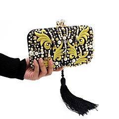 お買い得  Beaded Evening Bags-女性 バッグ オールシーズン ポリエステル イブニングバッグ とともに クリスタル/ラインストーン アクリルジュエル のために 結婚式 イベント/パーティー カジュアル フォーマル イエロー