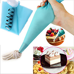 billige Bakeredskap-6 stk kake dekorere kit isetaske tips baking verktøy lime mat konditori rør