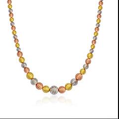 Ожерелье Ожерелья-цепочки Бижутерия Свадьба / Для вечеринок / Повседневные Серебрянное покрытие / Позолота / Позолоченное розовым золотом