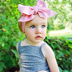baratos Acessórios para Crianças-Bébé Para Meninas Doce Sólido Laço Algodão Acessórios de Cabelo / Bandanas