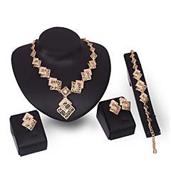 baratos Conjuntos de Bijuteria-Mulheres Conjunto de jóias - Strass Fashion, Euramerican Incluir Dourado Para Casamento Festa Noivado / Brincos