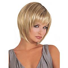 tanie Peruki syntetyczne-Peruki syntetyczne Blond Fryzura Bob / Z grzywką Włosy syntetyczne Blond Peruka Damskie