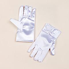 Χαμηλού Κόστους Γάντια για πάρτι-Σατέν Μέχρι τον καρπό Γάντι Γάντια για Κοριτσάκι Λουλουδιών Με Φιόγκος