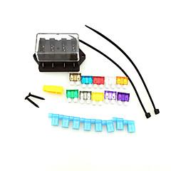 caminhão do carro de 4 vias circuito iztoss fusível lâmina 24v ato padrão de retenção de bloco caixa de 12V com fusível e ferramentas para