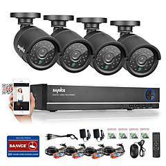 Χαμηλού Κόστους SANNCE®-sannce® 4ch ahd dvr 4pcs 720p αδιάβροχο υπαίθριο cctv κάμερα οικιακής ασφάλειας κιτ επιτήρησης cctv σύστημα