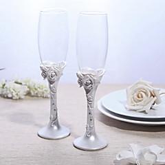 Flautas de vidro de chumbo sem chumbo 2 recepção de casamento não-personalizada de caixa de presente