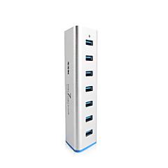 billige USB Hubs & Kontakter-SSK 7 port USB 3.0 hub shu370 aluminium 5Gbps SuperSpeed extender med 5v 3.5a strømforsyning usb 3.0 splitter