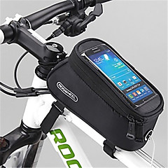 baratos Mochilas de Ciclismo-ROSWHEEL Bolsa para Quadro de Bicicleta Bolsa Celular 4.8inch polegada Á Prova de Humidade Zíper á Prova-de-Água Vestível Sensível ao
