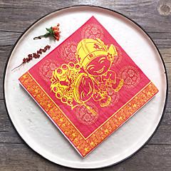 100% Celulose Virgem Guardanapos de casamento-20 Piece / Set Guardanapos de Almoço Guardanapos de Jantar