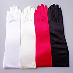 preiswerte Handschuhe für die Party-Satin Baumwolle Elastischer Satin Handgelenk-Länge Opernlänge Handschuh Charme Stilvoll Brauthandschuhe Party / Abendhandschuhe With