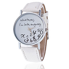 Whatever I'm Late Anyway Watch With Leather Band/ Unisex Word Watch Quartz Analog Wrist Strap Watch Cool Watches Unique Watches Fashion Watch