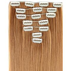 levne Syntetické příčesky-Rozšíření lidský vlas Vysoká kvalita Volný Klasický Dámské Denní