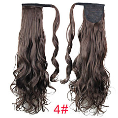 cheap Wigs & Hair Pieces-20inch long curly ponytail clip in synthetic fake hair ponytail for women
