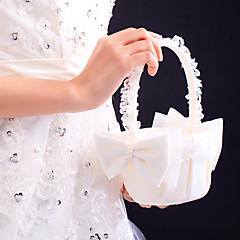Bouquet Raso Pizzo 22 cm Perle false Fiocco 1