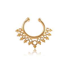 tanie Piercing-Pierścień nosowo-nosowy / kolczyk w nosie / Piercing nosa - Stal nierdzewna Unikalny, Modny Damskie Srebrny / Różany / Złoty Biżuteria Na Codzienny