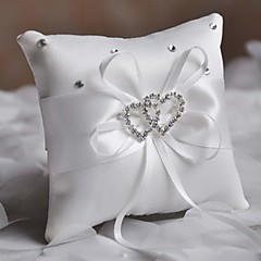 cheap Ring Pillows-Crystal Ribbons Satin Ring Pillow Beach Theme Garden Theme Asian Theme Floral Theme Butterfly Theme Classic Theme Winter Spring Summer