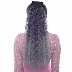 billiga Peruker och hårförlängning-Lång Syntetiskt hår HÅRFÖRLÄNGNING Vågigt Klämma in 1st Annat Dagligen Hög kvalitet Dam Syntetiska utsträckningar Hårförlängningar av