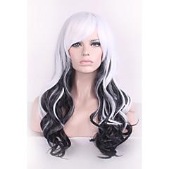 billiga Peruker och hårförlängning-Syntetiska peruker / Kostymperuker Lockigt Syntetiskt hår Ombre-hår Vit Peruk Dam Utan lock