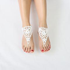 baratos Bijoux de Corps-Tornezeleira - Flor Original, Estilo simples, Fashion Branco Para Casamento Festa Casual Mulheres