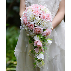 """cheap Party Headpieces-Wedding Flowers Bouquets Wedding Party / Evening Silk Organza Satin 12.6""""(Approx.32cm)"""