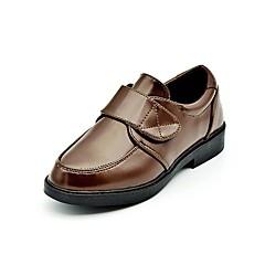 levne Svatební boty-Oxfordské-Koženka-Pohodlné-Chlapecké-Černá / Hnědá-Svatba / Běžné / Party-Nízký podpatek