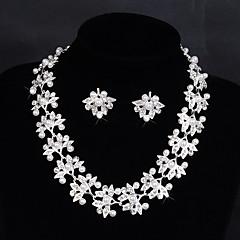 Takı Seti Kadın's Yıldönümü / Düğün / Nişan / Doğumgünü / Parti / Özel Anlar Mücevher Setleri alaşım İmitasyon İnci / Yapay ElmasKolyeler