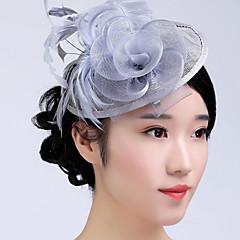 halpa Pääkoristeet juhliin-tulle basketwork feather fascinators headpiece klassinen naisellinen tyyli