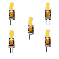 YWXLIGHT® 5pcs 5W 460lm G4 LED Bi-pin 조명 MR11 4 LED 비즈 COB 방수 장식 따뜻한 화이트 차가운 화이트 내추럴 화이트 24V 12V