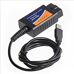 שורות של OBD2 כלי אבחון תקלות אוטומטי elm327 נהיגה כבל USB למחשב
