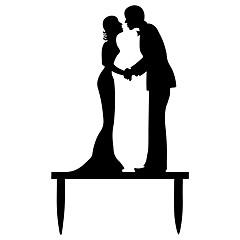 Kakepynt Ikke-personalisert Klassisk Par Akryl Bryllup Jubileum utdrikkingslag Bursdag Sløyfe Hvit Gull Sølv SvartStrand Tema Hage Tema