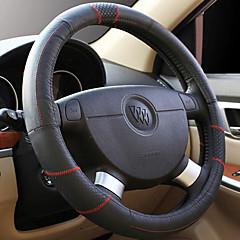 couro bordado volante do carro cobre automóvel e moto fornece o conjunto de interior