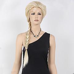 tanie Peruki syntetyczne-Peruki syntetyczne / Peruki do kostiumów Curly Blond Włosie synetyczne Peruka pleciona Blond Peruka Damskie Długie Bez czepka Blond