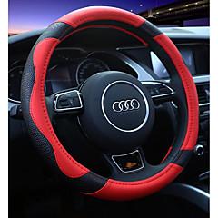 billige Rattovertrekk til bilen-Rattovertrekk til bilen ekte lær 38 cm Rød / Beige / kaffe For Universell