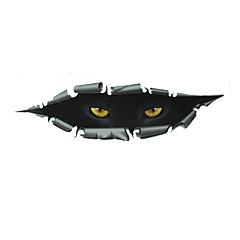 carro olhos etiquetas, adesivos de carro de personalidade do gato 3d