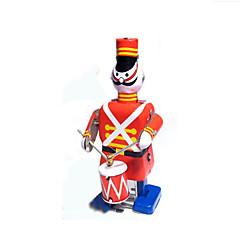 Educatief speelgoed Opwindspeelgoed Speeltjes Krijger Muziekinstrumenten Robot Drumstel Metaal 1 Stuks Kerstmis Verjaardag Kinderdag