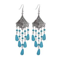 Γυναικεία Κοριτσίστικα Τιρκουάζ Σκουλαρίκι - Επάργυρο Τυρκουάζ Λουλούδι  κυρίες Θύσανος Βίντατζ Μποέμ Μπόχο Στυλ Λαογραφικό Κοσμήματα Μπλε Για  Καθημερινά ... 38269d1f92c