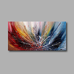 voordelige Olieverfschilderijen-Hang-geschilderd olieverfschilderij Handgeschilderde - Abstract Modern Inclusief Inner Frame / Uitgerekt canvas