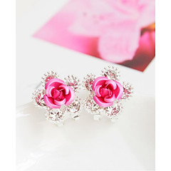 Alloy Earrings Stud Earrings Wedding/Party 1 pair Elegant Style
