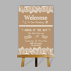 cheap Wedding Ceremony-E-HOME Personalized Custom Wedding Desktop Indicator Wedding Gift Decoration Custom Name And Date (Contain Wood Easel)