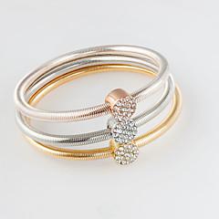 billige -Dame Charm-armbånd Mode Legering Cirkelformet Guld/Sølv Smykker For 1 Sæt