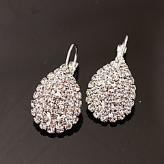 Women's Stud Earrings Drop Earrings Fashion Luxury Costume Jewelry Rhinestone Imitation Diamond Alloy Oval Drop Jewelry For Party Daily