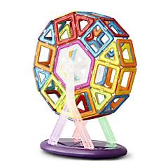 צעצועים מגנטיים אבני בניין פאזל בלוקים מגנטיים מגדיר בניין מגדיר 64 חתיכות צעצועים מתכת איכות גבוהה חמוד מגנטי עשה זאת בעצמך ריבוע משולש