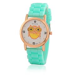 cheap Women's Watches-Women's Quartz Wrist Watch / Casual Watch Silicone Band Casual Owl Fashion Black White Blue Red Orange Brown Green Pink Purple Yellow