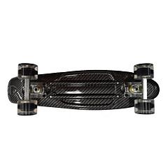 22 Inch Cruisers Skateboard Standard Skateboards PP (Polypropylene) PU ABEC-7-Black Flower/Floral