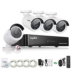 Χαμηλού Κόστους SANNCE®-sannce® 4ch hd 1.3 mp 960p nvr poe ασφάλεια ip κιτ κάμερας σύστημα οικιακό δίκτυο υπαίθριο