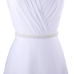 結婚式 パーティー/フォーマル 日常着 サッシュ With ビーズ 真珠