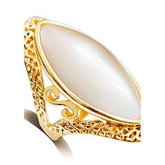 Anéis Fashion Casamento Jóias Liga Feminino Anéis Grossos 1pç,6 / 7 / 8 / 9 Dourado
